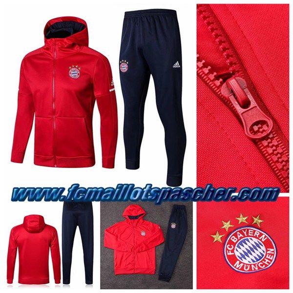 72c618559b Site Chinois Sweat A Capuche Survetement Adidas Football: Bayern Munich  Rouge Ensemble 2018