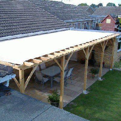 rainproof pergola - Google Search | Pergola plans roofs ... on Canvas Sun Shade Pergola id=17008