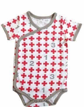 5cc45066f Adorable kimono style bodysuit with buttons on side for easy access while  baby is sleeping. Featuring 1,2,3 and plus sign print.