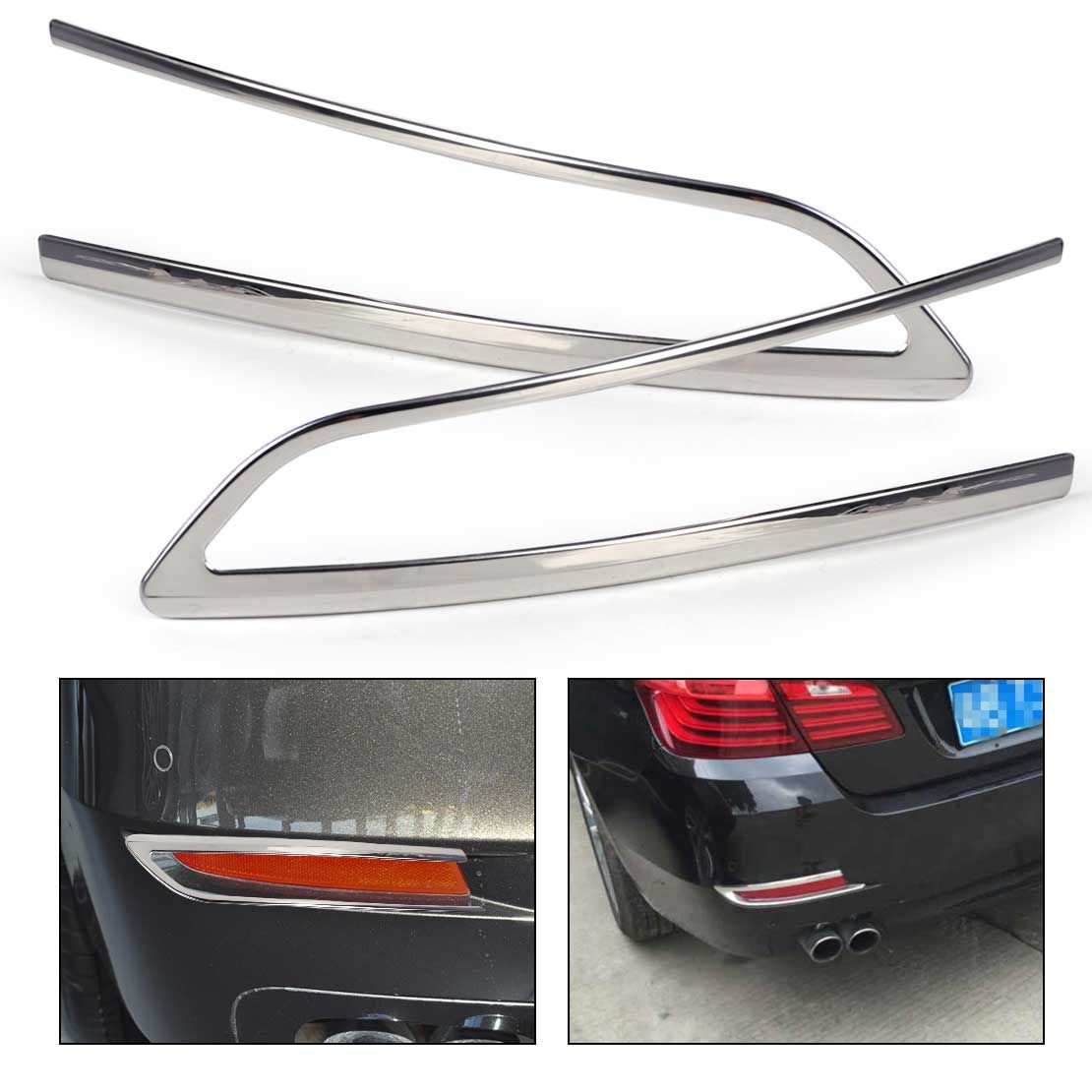 487a9da249a2 beler Car Styling New Pair ABS Chrome Rear Fog Light Lamp Cover Trim fit  for BMW