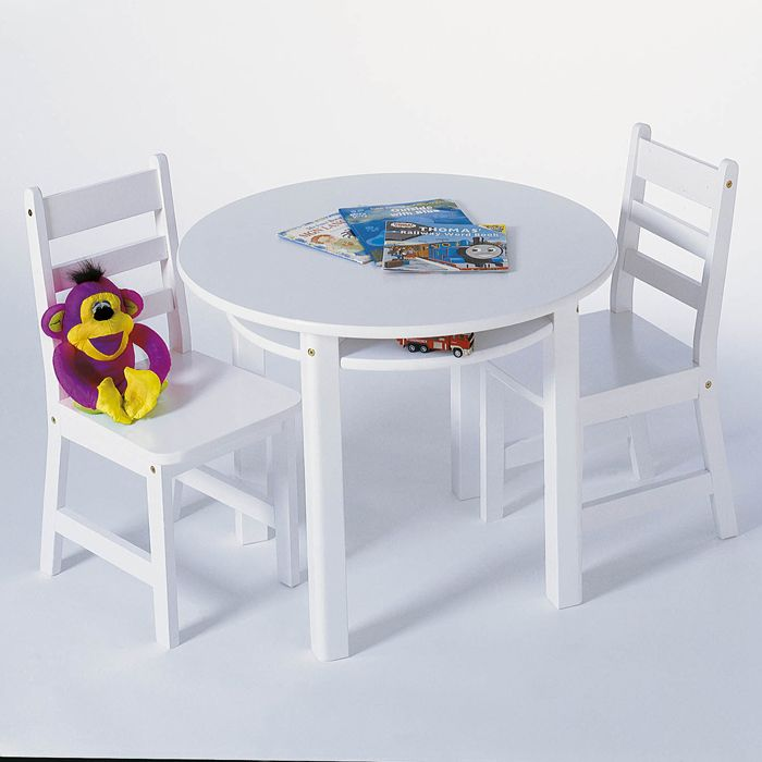 Lipper Childu0027s Round Table U0026 Two Chairs   $169.49 Images