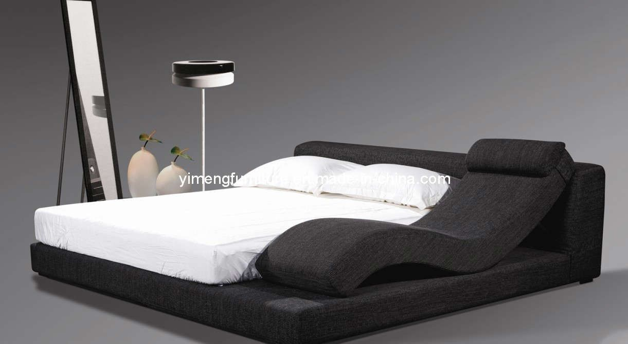 Hot Item Bedroom Furniture Soft Fabric Leather Sofa Bed With Leisure Chaise B 0876