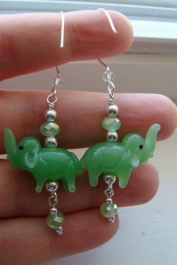 Jade Elephant Earrings Shipping Included 16 00 Via Etsy