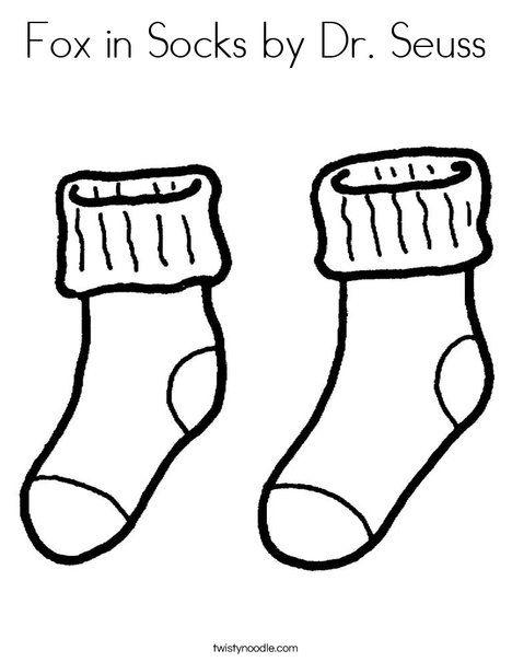 Fox in Socks by Dr Seuss Coloring Page - Twisty Noodle   Kids ...