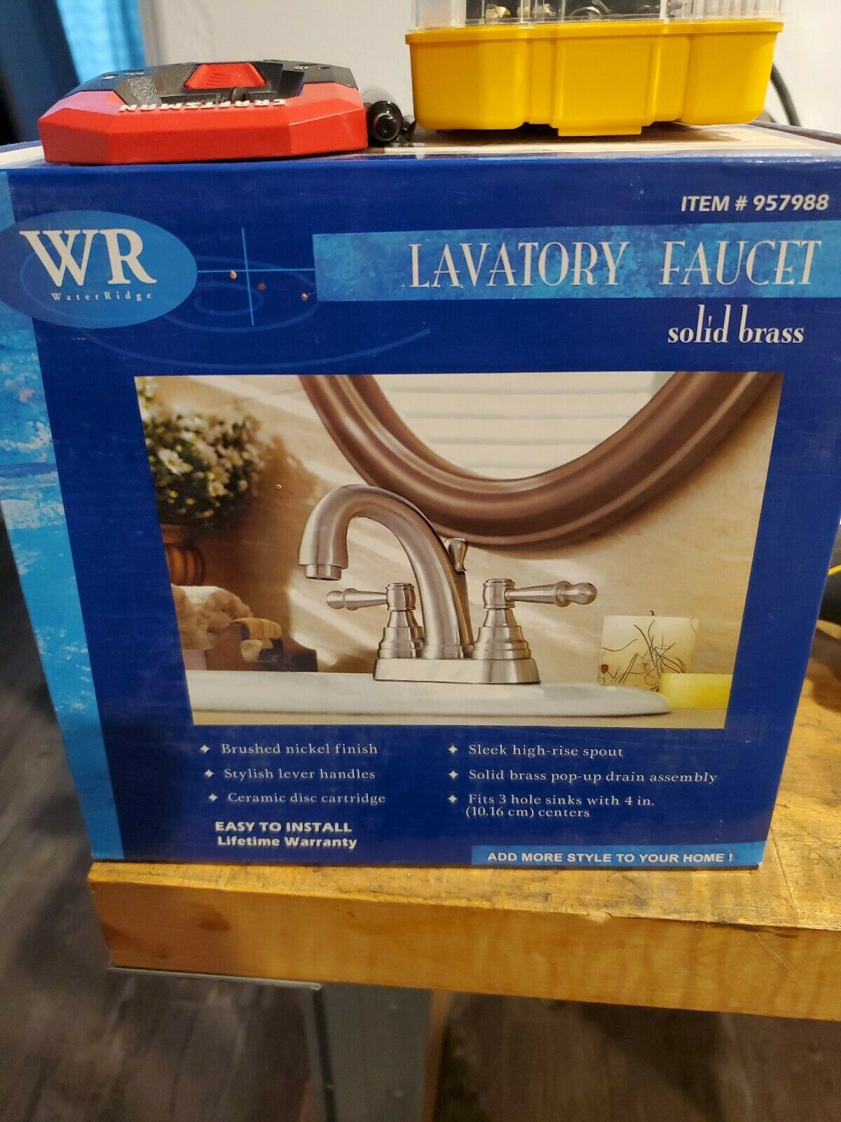 New Waterridge Solid Brass Lavatory Bathroom Faucet Brushed Nickel