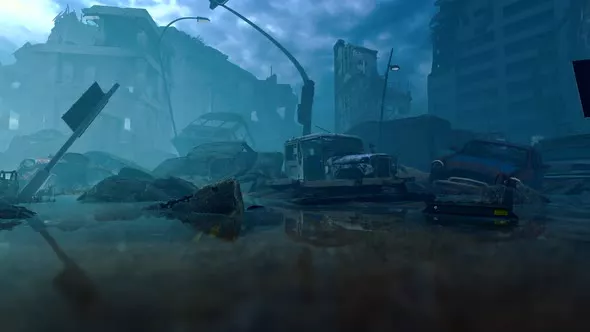 Street Of The Destroyed City City Destroyed Animation