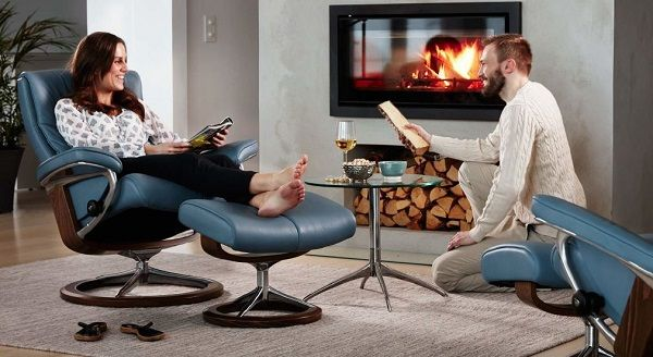 Relax In The Stunning Comfort Of The Ekornes Stressless Peace Recliner.  Save On The Ekornes