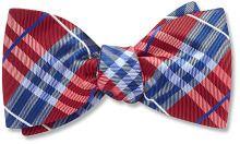 Cherry Lane bow ties, Red Silk Plaid - Beau Ties Ltd of Vermont