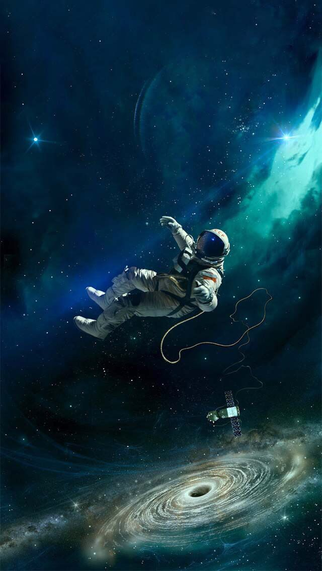 Astronaut In Floating In Outer Space Space Art Astronaut Art Art