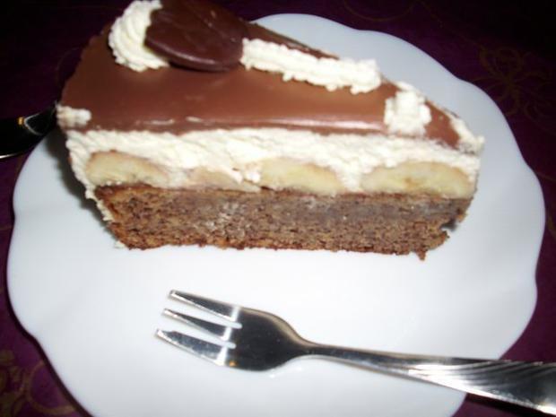 Milka Bananen Torte Rezept In 2019 Kuchen Kekse