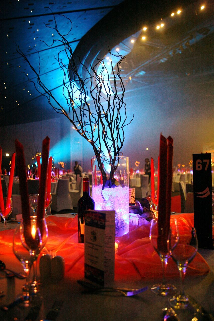 Fire And Ice Theme Decorations Www Bizbash Sculptures Warm Lighting Create