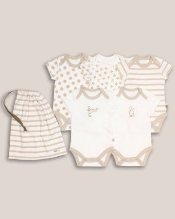 4fa83166f The Essential One - Unisex Pack of 5 Baby Bodysuits / Vests ESS40:  Amazon.co.uk: Clothing