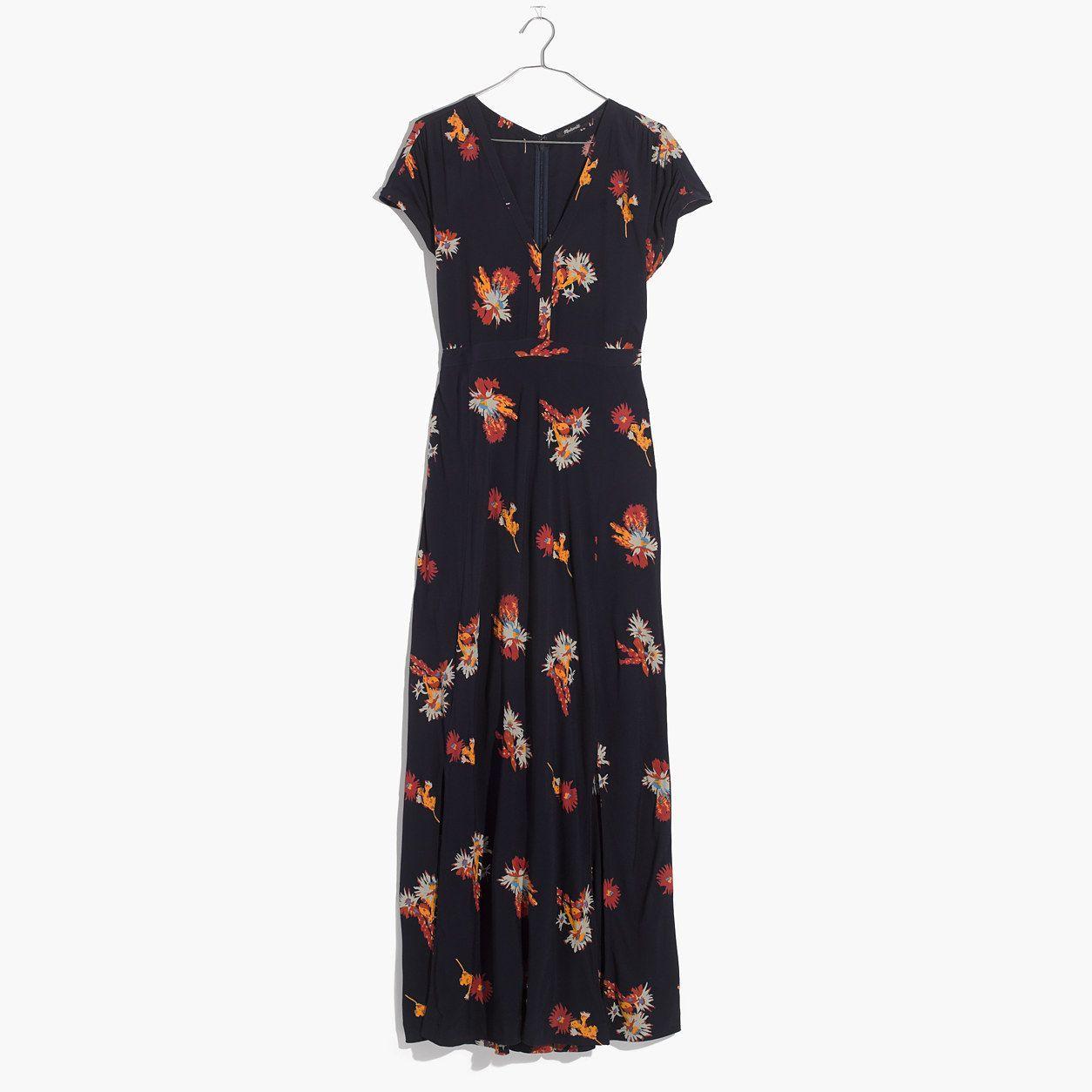 e5278c74ecf Madewell Deep-V Maxi Dress In Cactus Flower
