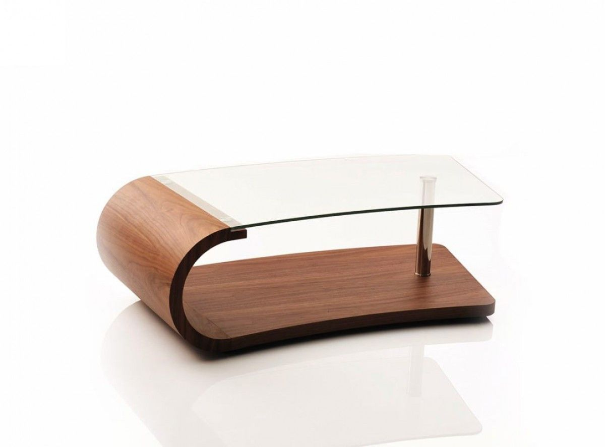 Modern Walnut And Glass Coffee Table Coffee Table Rectangle Coffee Table Glass Coffee Table [ 887 x 1200 Pixel ]