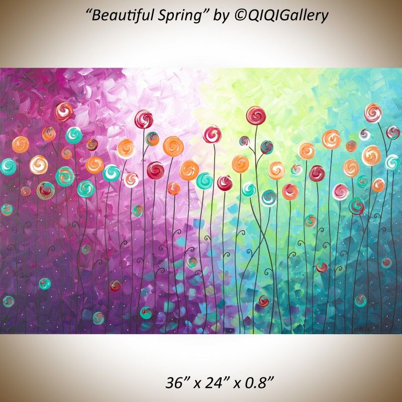 Wall Paintings For Office. Simple Paintings Beautiful Spring By Qiqigallery  36 Intended Wall Paintings For
