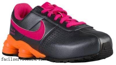 Collection Femme Nike Shox Deliver Sombre Gris Bright Citrus Noir Vivid  Rose - Chaussures de course   CONTREFAÇONS   Pinterest
