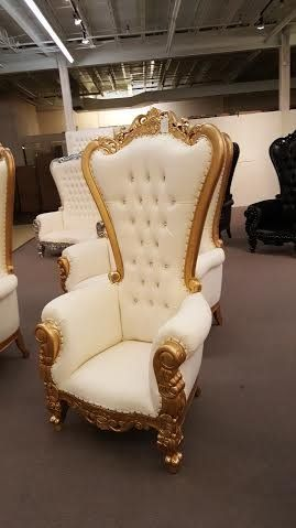6 ft tall throne chair french baroque wedding bride groom for Cheap baroque style furniture