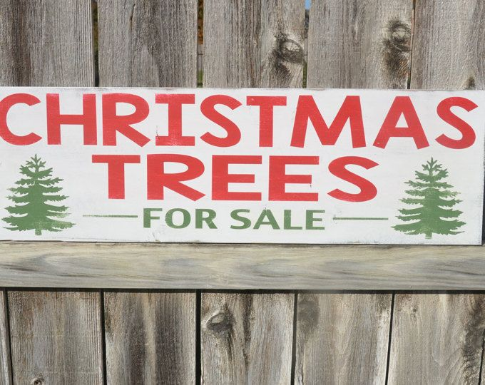 christmas trees for sale sign christmas decor farmhouse painted sign - Farmhouse Christmas Decor For Sale