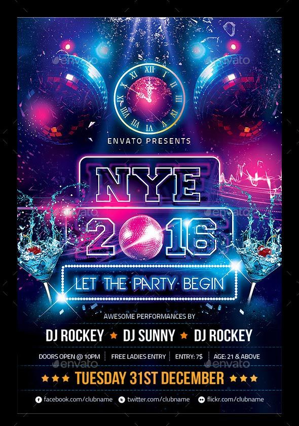 Search  Stunning New Year Flyer Templates   Colorful