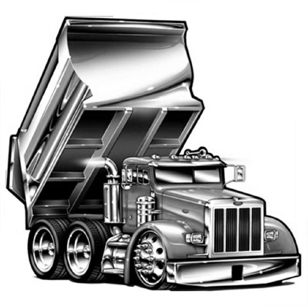 Cartoon Peterbilt Dumptruck With Images Dump Trucks Truck