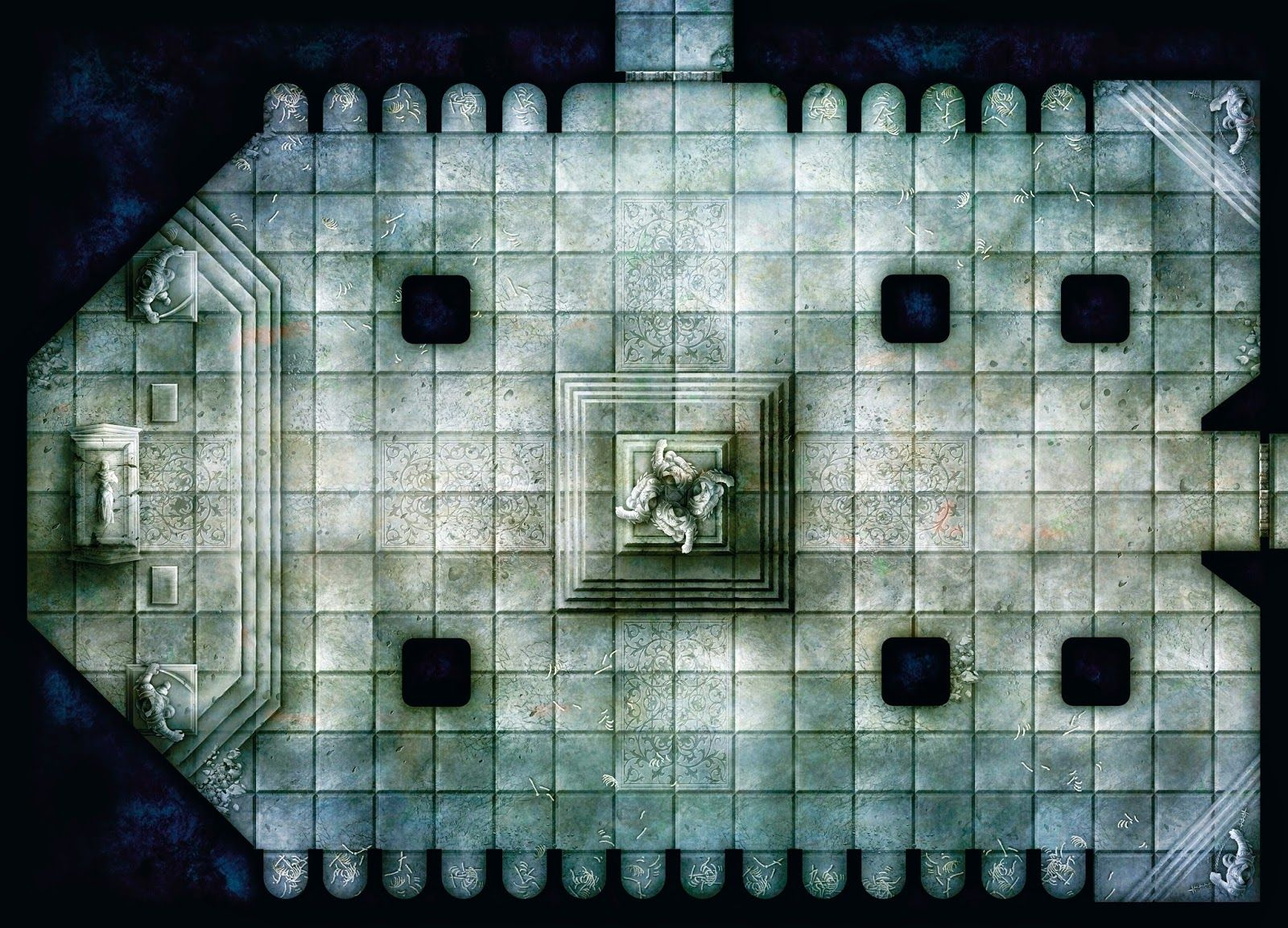 This is an image of Remarkable Dungeons and Dragons Tiles Printable