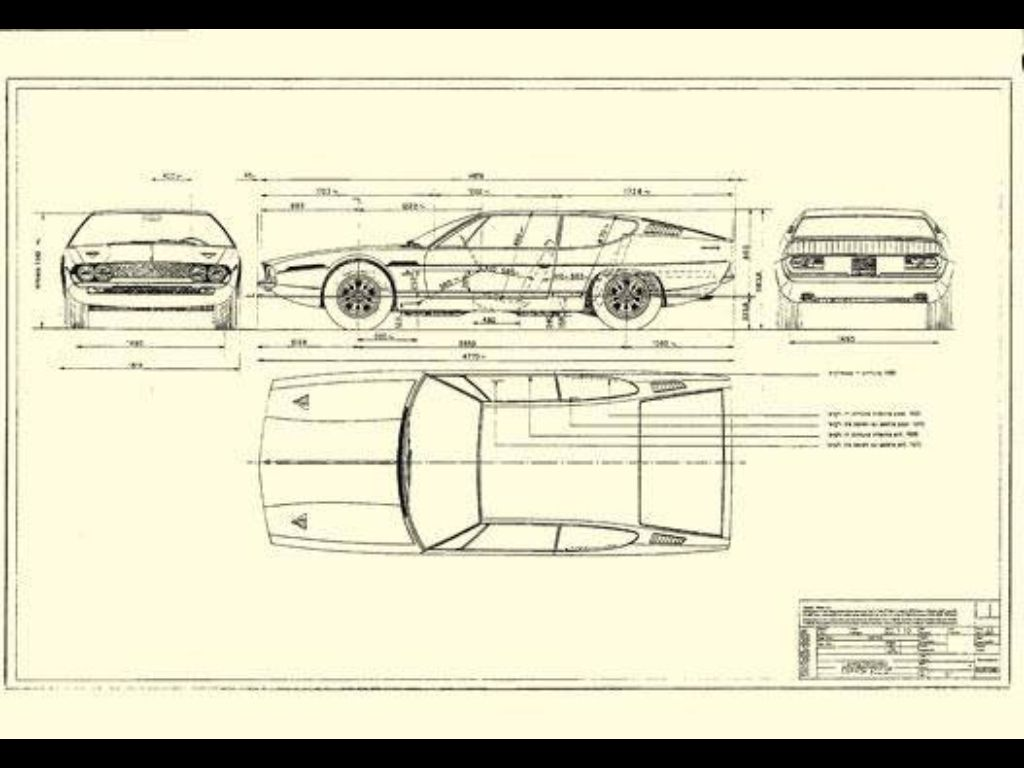 Blueprint Lamborghini Espada - with special thanks to Silvio ...
