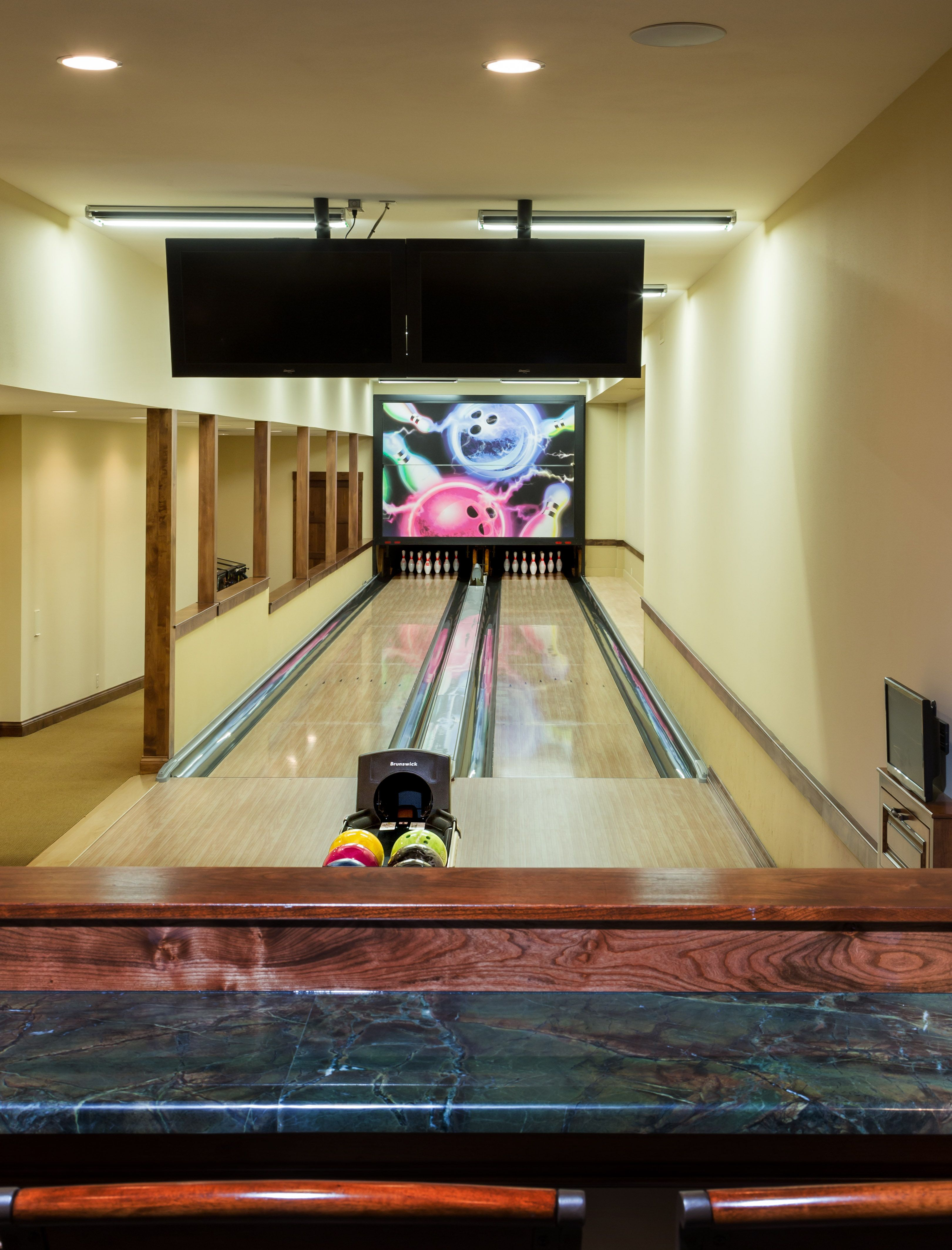 In Home Bowling Alley Home Bowling Alley Dream Home Design Home Entertainment