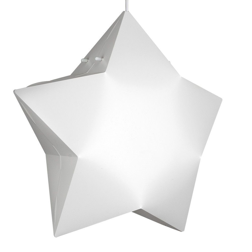Childrens 3d Star Ceiling Pendant Light Shade In A Matt White Finish Simply Fixes To Your Existing C Pendant Light Shades Ceiling Pendant Ceiling Light Shades