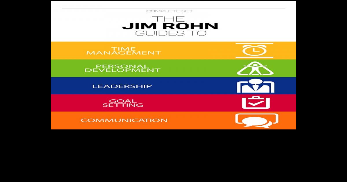 The Jim Rohn Guides Complete Set Leadership Goals Jim Rohn Leadership