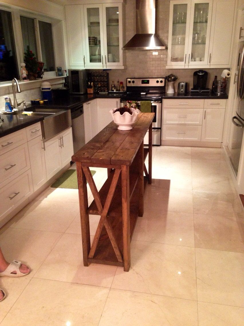 Barn Style / Farm Style Rustic Kitchen Island | Kitchens | Pinterest ...