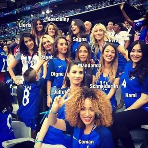 The french players' wifes.