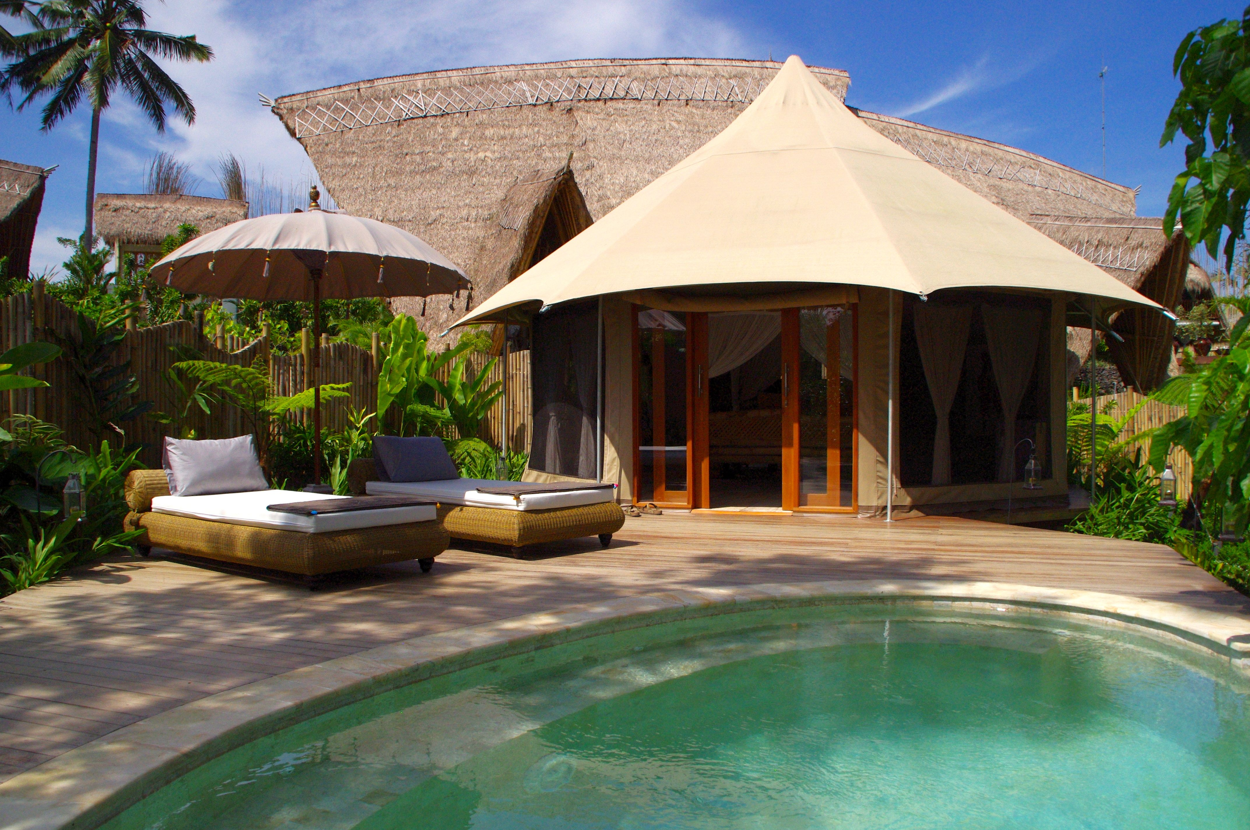 private pool at Tents OgoOgoh Sandat Glamping Tent