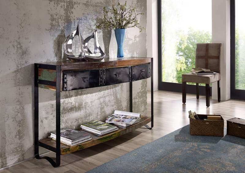 Wohnzimmer Industrial ~ Industrial konsolentisch eisen u altholz jetzt bestellen
