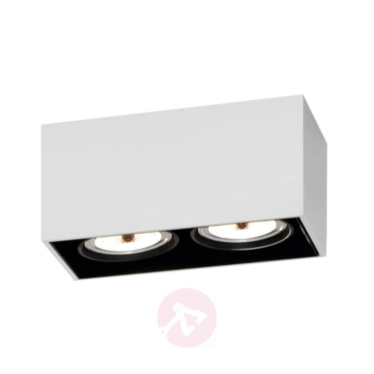 2 Punktowa Lampa Sufitowa Compass Box Biała In 2019 Lampy