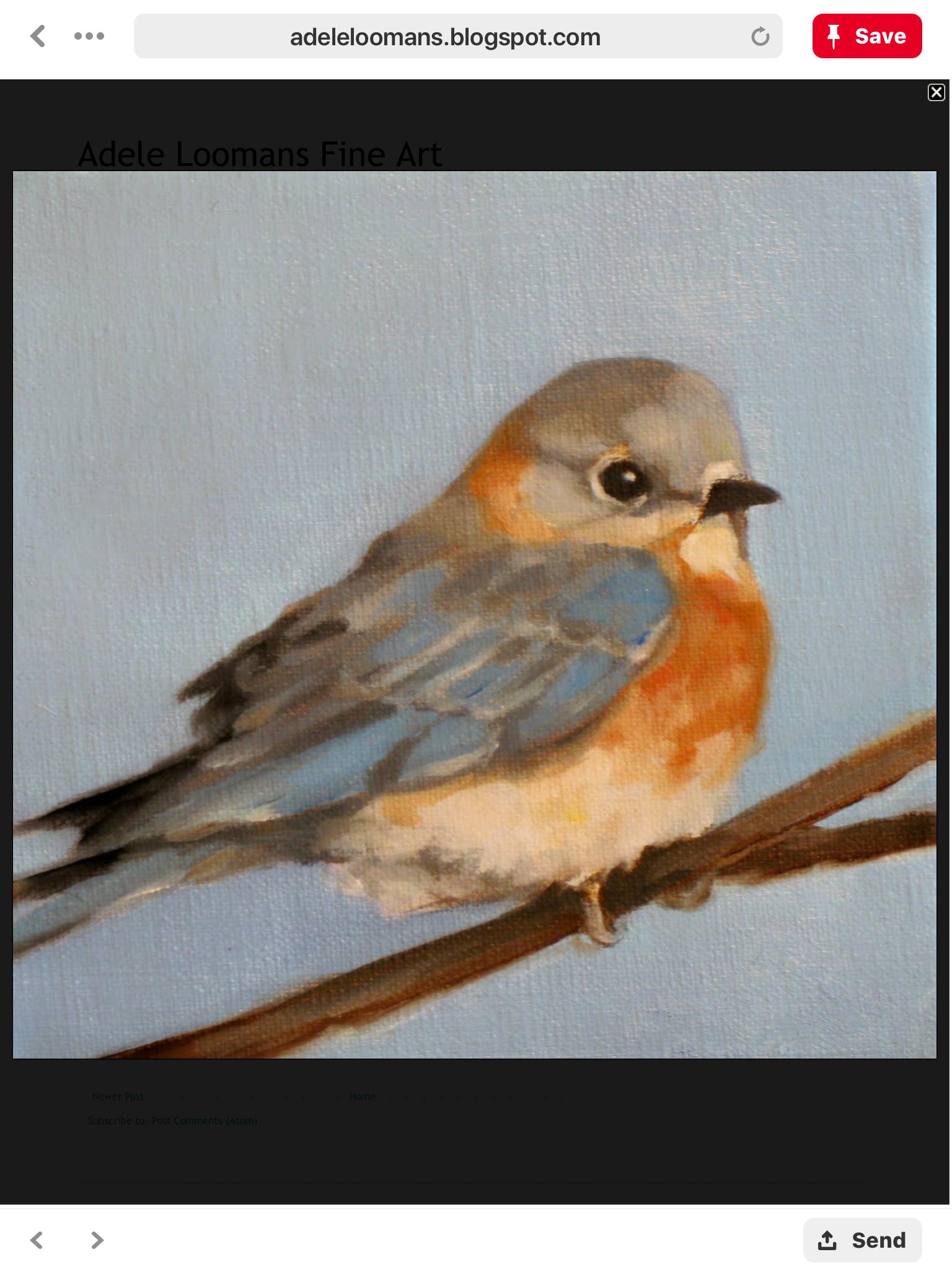 Solitario Uccelli Dipinti Arte Con Uccelli Uccello Ad Acquerello