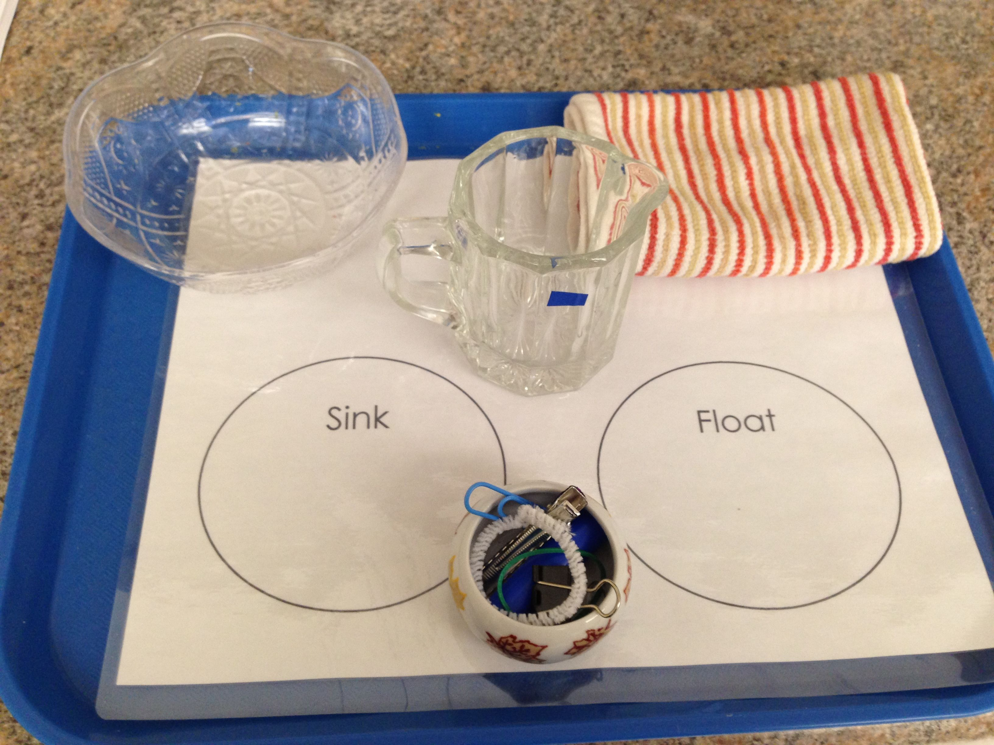 Sink And Float On A Tray Ready For Use Promotes