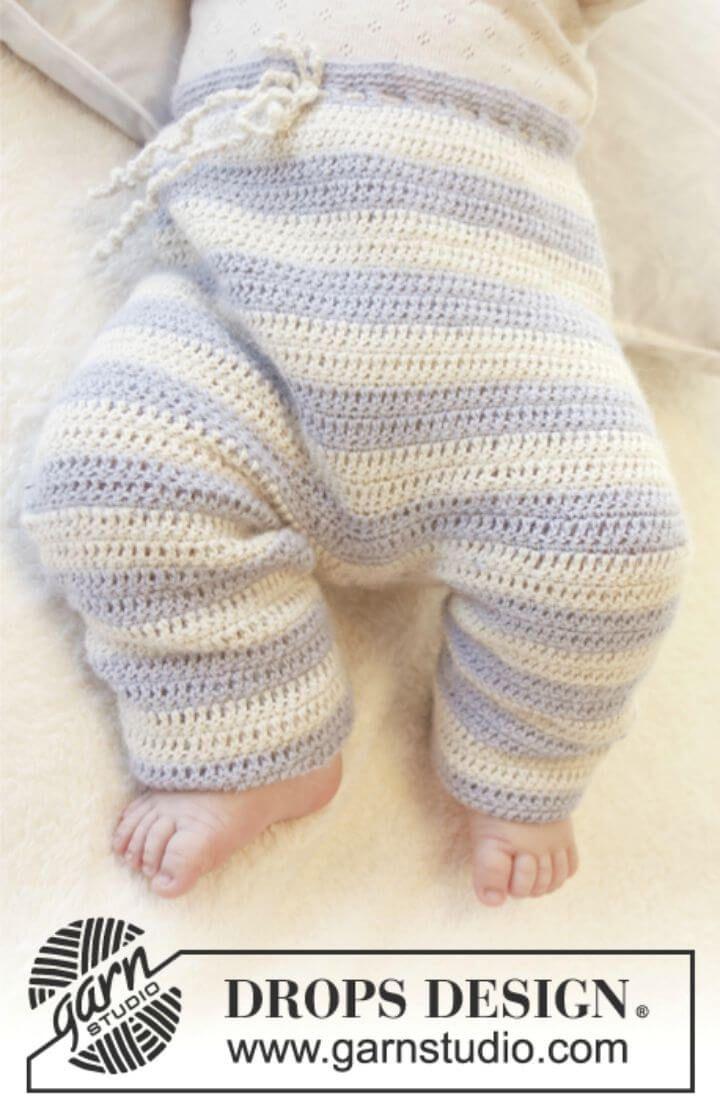 Crochet Baby Pants - 9 Free Patterns | Tejido facil, Cosas para bebe ...
