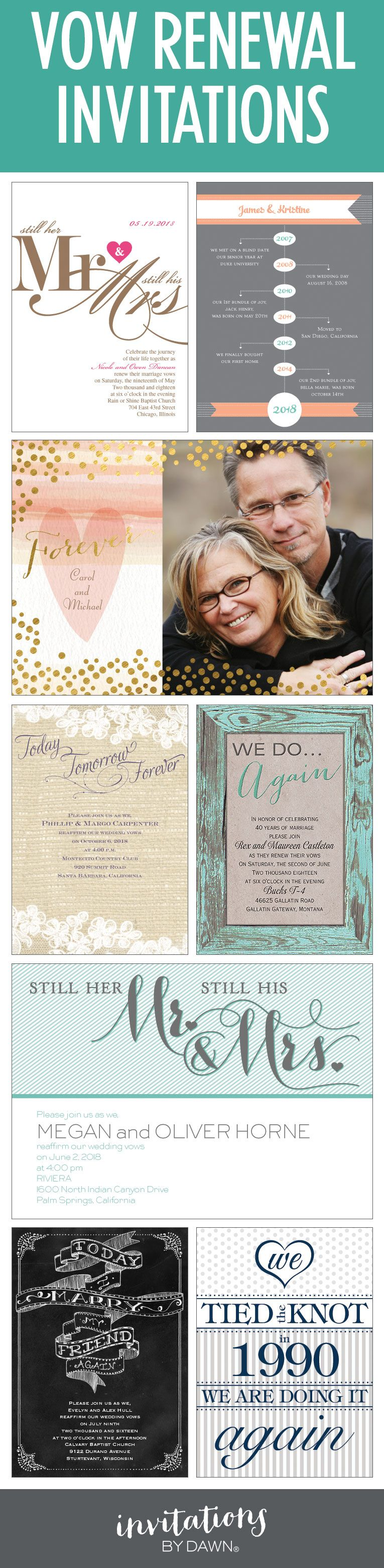 The best invitations for your Vow Renewal