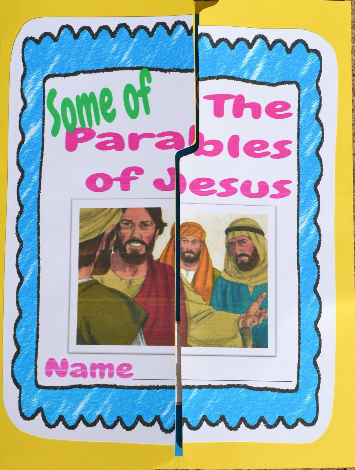 Parables Of Jesus Lapbook Includes Review Activities For