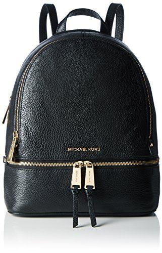 eecee726c068 MICHAEL Michael Kors Rhea Zip Medium Leather Backpack, Black ...