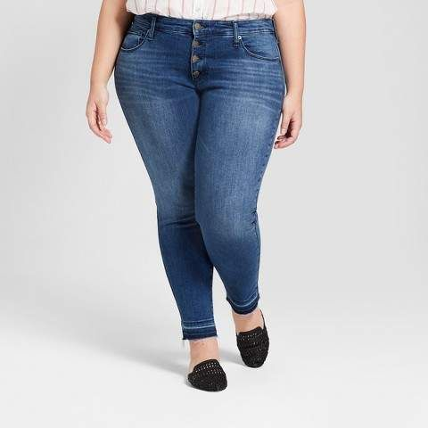 7c4ad0d4c8ebf Universal Thread Women s Plus Size Released Hem Skinny Jeans - Universal  Thread Medium Wash