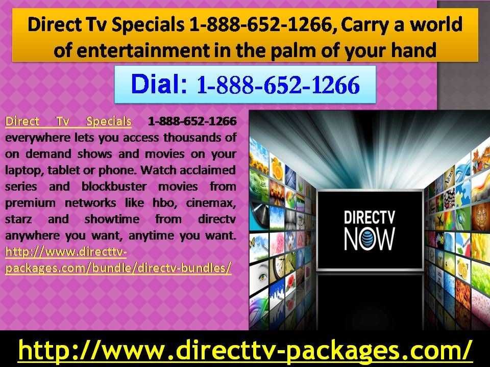 Direct Tv Specials 18886521266, Carry a world of