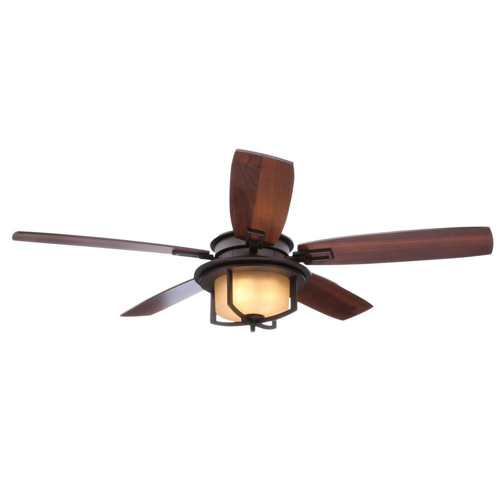 Hampton Bay Devereaux Ii 52 In Oil Rubbed Bronze Ceiling Fan Al685 Orb At The Home Depot Mobile