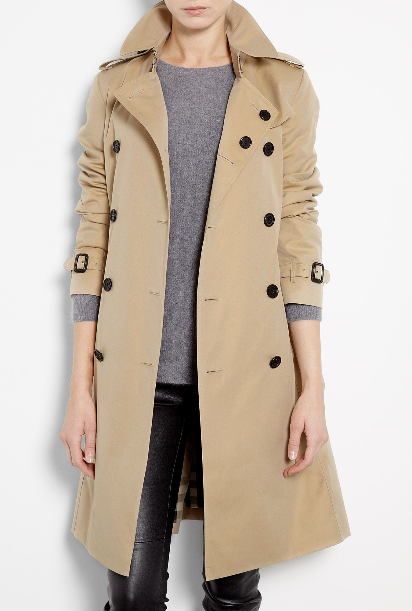 Burberry Brit | Honey Cotton Trench Coat by Burberry Brit