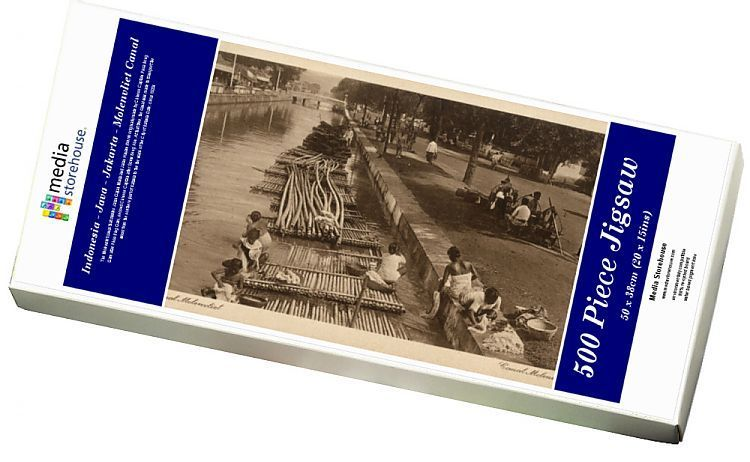Jigsaw Puzzle-Indonesia - Java - Jakarta - Molenvliet Canal-500 Piece Jigsaw Puzzle made to order