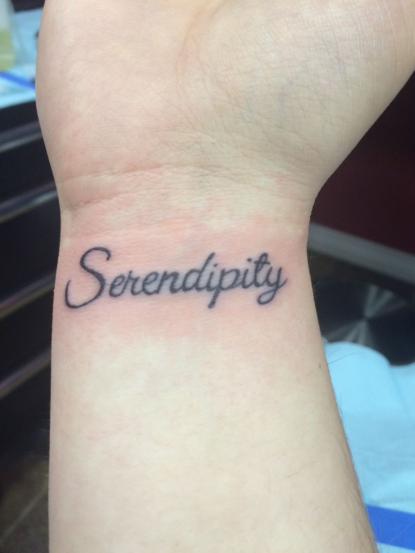 Serendipity tattoo! Love the meaning behind this ...