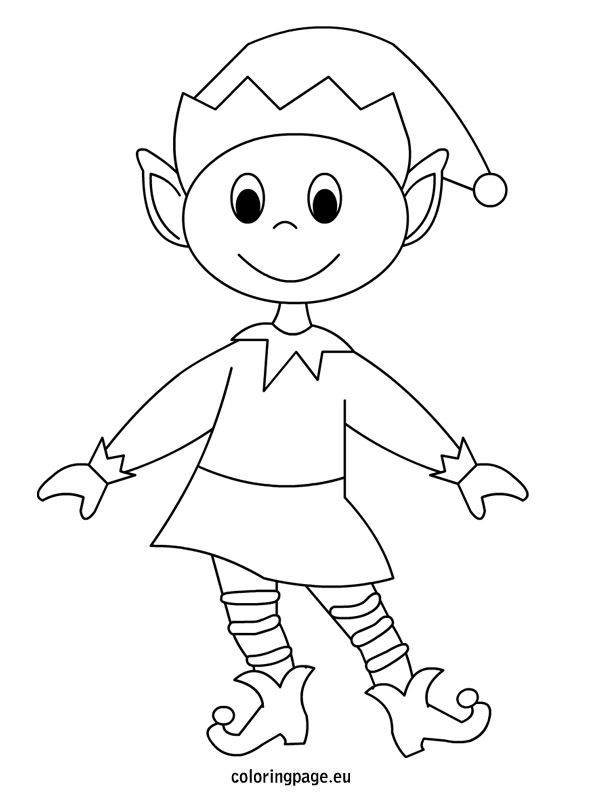 Elf coloring page  Christmas  Pinterest  Elves Antlers and