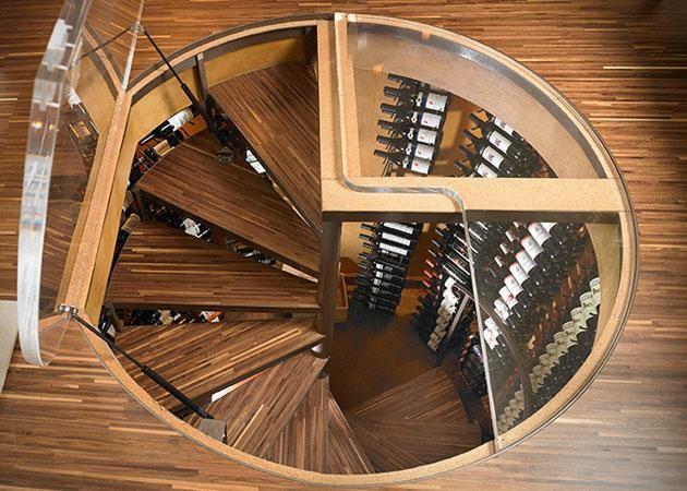 spiral wine cellar una increble bodega de vinos subterrnea para cualquier habitacin en su casa