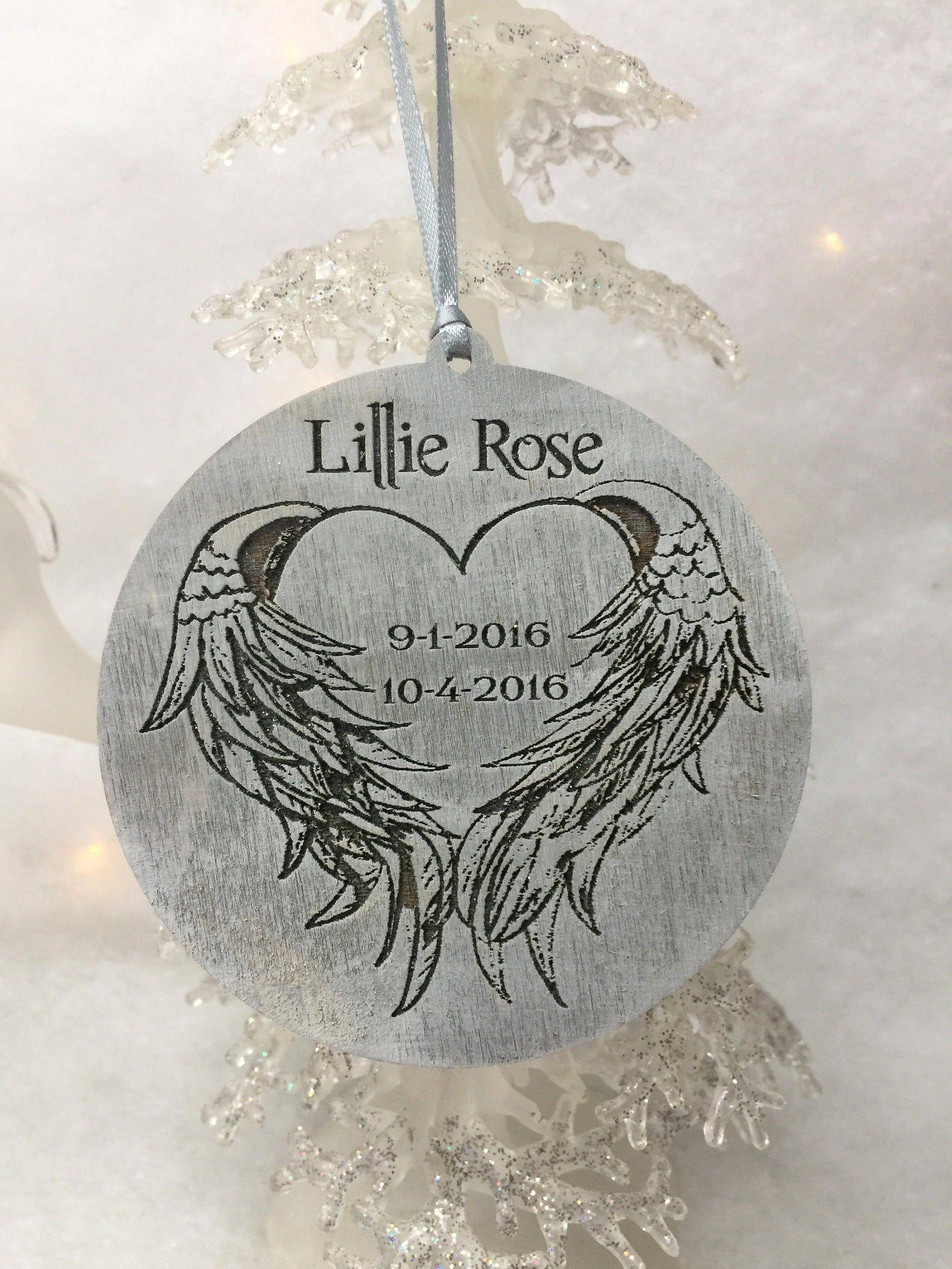 Memory Ornament Christmas Ornament Baby Memorial Ornament Etsy In 2020 Memorial Ornaments Christmas Ornaments Baby Ornaments