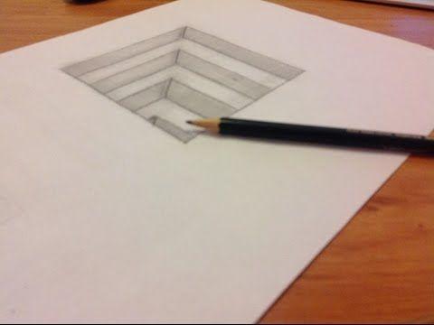 üç Boyutlu Kolay çizimler Merdiven How To Draw 3d Youtube